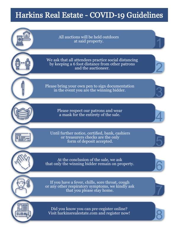 Harkins Real Estate COVID-19 Guidelines